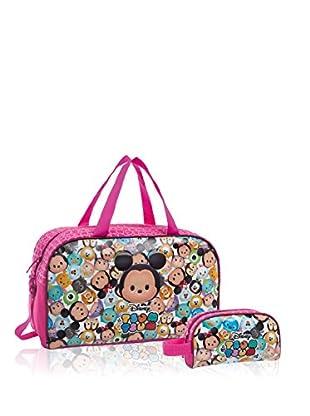 Disney Reisetasche + Kulturbeutel Tsum Tsum Pink