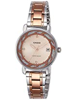Casio Enticer Analog Rose Gold Dial Women's Watch  - LTP-E120RG-9ADF (A1044)