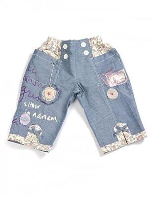 My Doll Jeans mit Blumen (denim/vanille/blau)
