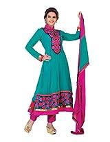 Nazaquat Elegant Blue Anarkali Suit Salwar Kameez