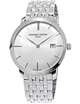 Frederique Constant Analogue Silver Dial Men's Watch - FC-306S4S6B2
