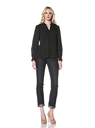 Parker Women's Embroidered Blouse (Black)