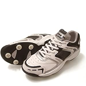 Vector X Pro Speed Cricket Shoes, White/Black(Spikeless) 6