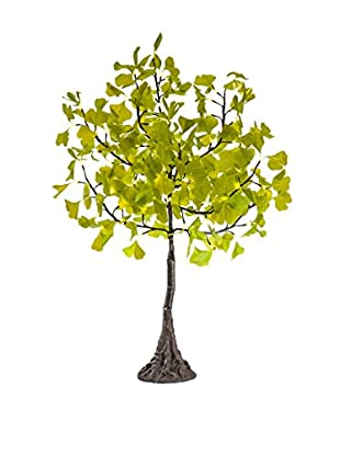 LED Green Gingko Tree, Warm White Bulbs