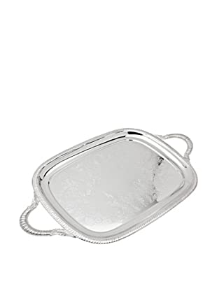 Godinger Rectangle Handle Tray Gadroon, Silverplate