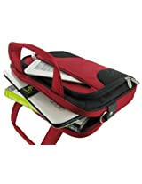 rooCASE Netbook / iPad Carrying Bag for Acer Aspire AO721-3620 11.6-Inch Netbook Black - Deluxe Series Red / Black