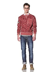 Under Two Flags Men's Crew Neck Pullover (Red)