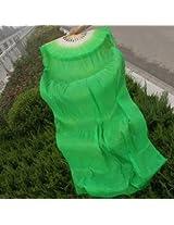 1.8m Lengthen Belly Dance Fan Silk Bamboo Fans Dance Dancing Performance Supplies (Green)