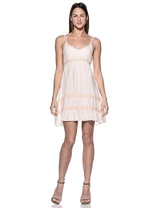Crema Vestido Tirantes Y Encaje (Rosa)
