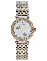 Titan Fashion Analog White Dial Women's Watch - NC9799BM01J
