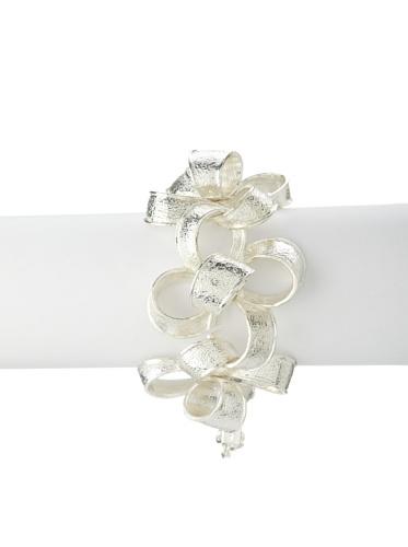Tuleste Market Ribbon Bracelet, Silver