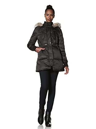 Buffalo David Bitton Women's Cinch Waist Puffer (Black)