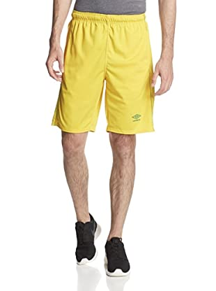 Umbro Men's Knit Active Short with Contrast Overlook (Brasil Freesia)
