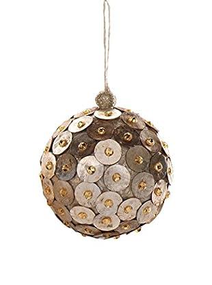 Capiz Disk Ball Ornament, Medium