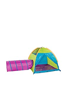 Pacific Play Tents Hide-Me Tent and Tunnel Combo (Blue, Green And Purple)
