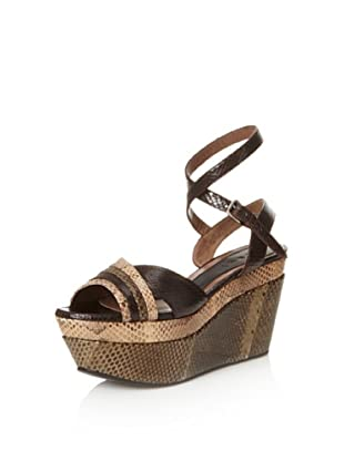MARNI Women's Wedge Sandal (Cord/Black)