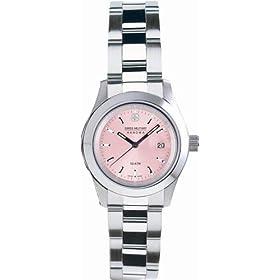 SWISS MILITARY (スイスミリタリー) 腕時計 ML/168 エレガント ピンク文字盤 メタルブレスレット レディース
