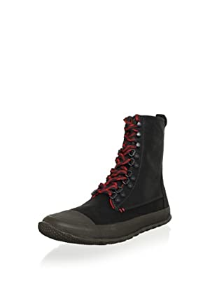 Tretorn Men's Klipporone Lace-Up Boot (Black/Fiery Red)