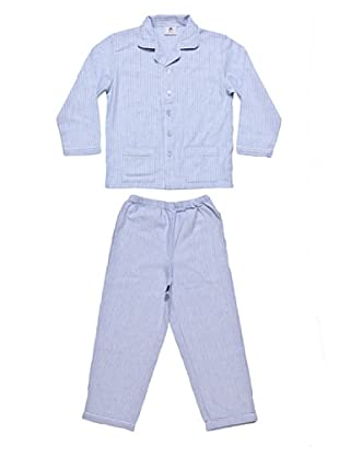 Allegrino Pigiama Flanella Charly Boy (Azzurro)