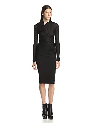 Rick Owens Lilies Women's Long Sleeve Wrap Top (Black)