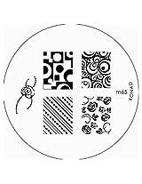 Konad Image Plate Nail Art - M65