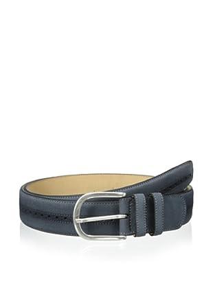 Mezlan Men's Suede Belt (Steel)