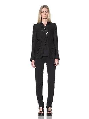 Ann Demeulemeester Women's Double-Breasted Jacket (Black)