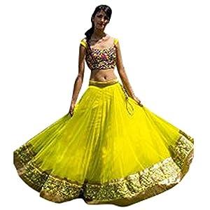 Wedding Party Wear Parrot Green Net Bollywood Replica Indian Designer Lehenga