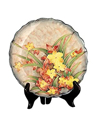 Dale Tiffany Springtime Decorative Plate, Yellow Multi
