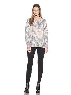 Torn by Ronny Kobo Women's Annie Boyfriend Sweater (Grey/Beige)