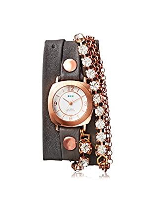 La Mer Collections Women's LM7616 Rose-Tone/Elephant Grey Leather Watch