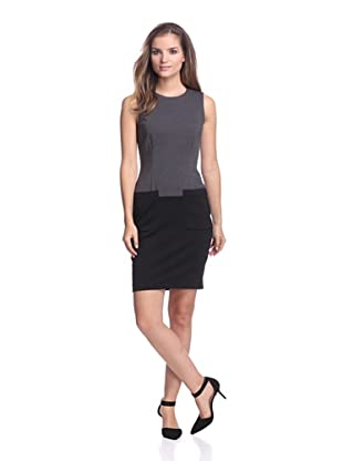 Calvin Klein Women's Colorblock Dress with Pockets (Charcoal)