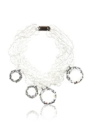 Vera Wang Women's Multi Chain Crystal Necklace (Crystal)