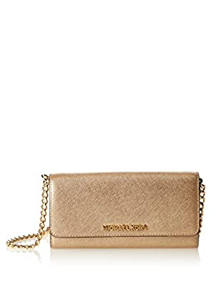 Michael Kors Bandolera Jet Set Travel Metallic Saffiano Chain Wallet