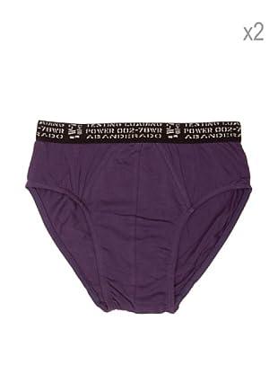 Abanderado Pack x 2 Slips Neo Junior (Violeta)