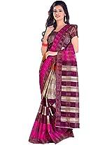 Shri Vaishnavi Designer Printed cotton raw silk Saree (1043)