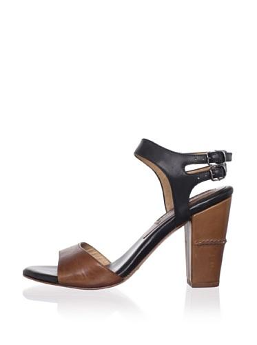 Modern Vintage Women's Roxy Ankle-Strap Sandal (Whiskey/Black)