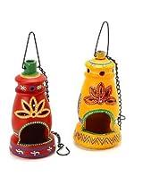 Aapno Rajasthan 2 Pc Terracotta Hanging Lanterns
