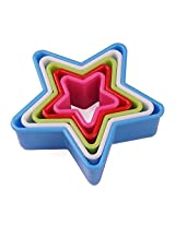 Mrice Star-shaped Cookie Cutters Multi-size Biscuit Cutter Set