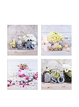 Vical Home Set Lienzo 4 Uds. Flowers
