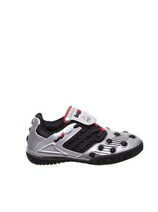 Footgol Sneakers Schnürung seitlich (Silber/Schwarz/Rot)