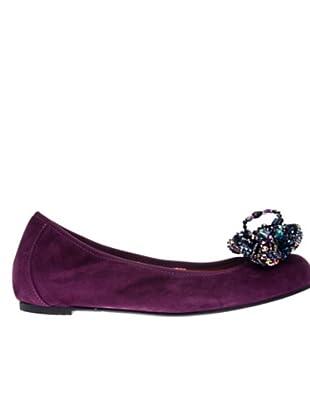 RAS Bailarinas Suede (púrpura)