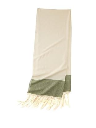 Mili Designs Women's Marrakesh Cotton Scarf (Cream/Green)