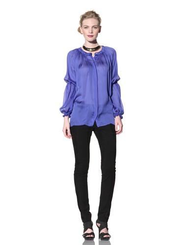 Just Cavalli Women's Ruched Blouse (Navy)