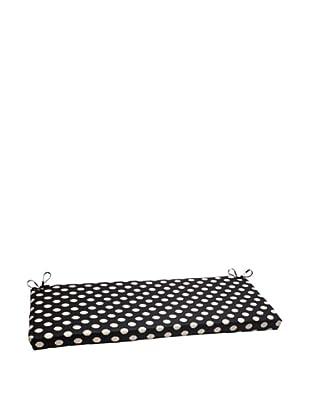Waverly Sun-n-Shade Solar Spot Ebony Bench Cushion (Black/Cream)