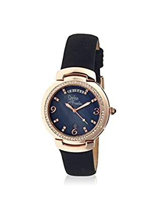 Sophie and Freda Women's SF4008 New Orleans Black/Black/Rose Leather Watch