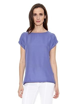 Cortefiel Camiseta Lisa (Azul)