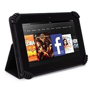 HP 7 Model 1800 Tablet with Intel Atom Processor 8GB Memory Slim Folio Case - UniGrip Edition - BLACK (Walmart Exclusive)