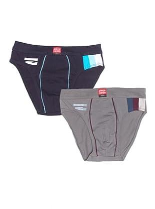 Pierre Cardin Slip pack (Gris / Azul)