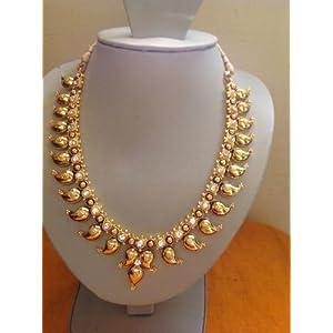Vasthra Boutique South Indian Mango Mala Necklace